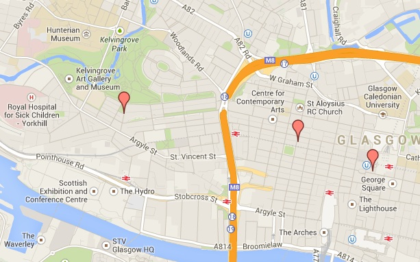 The Green Rooms Locations Glasgow City Centre & West End