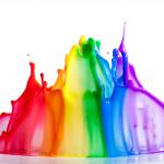 colour paint splashes