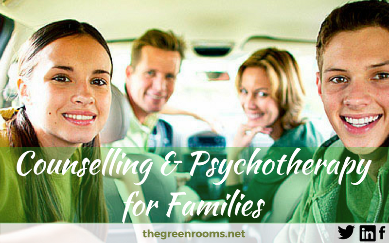 family therapy - a happy family in a car