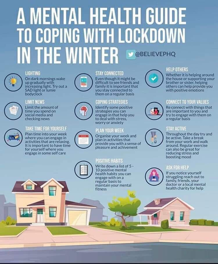 mental health guide to coping with lockdown in winter
